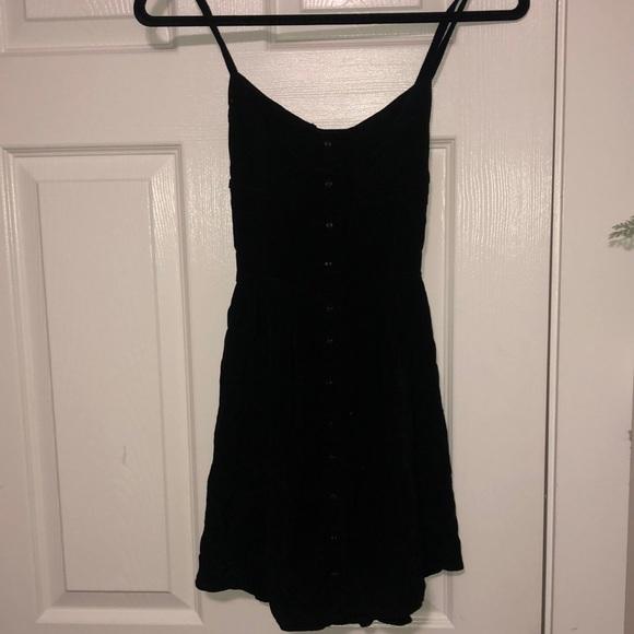 garage bustier little black dress
